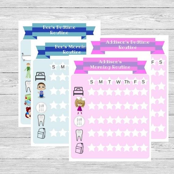 child behavior checklist kids checklist kids routine daily etsy