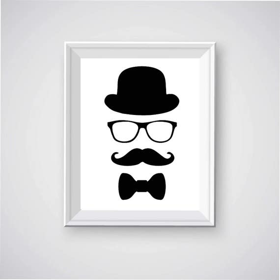 picture about Printable Mustache referred to as Bowler Hat Printable, Mustache Printable, Person within just Bowler Hat, Bowler Hat and Gles, Mustache Printable, Bow Tie Printable, Gentleman Printable