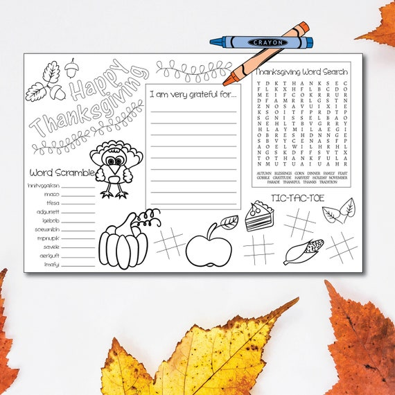 graphic relating to Printable Thanksgiving Placemat identified as Printable Thanksgiving Placemat, Thanksgiving Small children Desk, Thanksgiving Little ones Video game, Children Placemat, Childrens Placemat, Youngsters Game titles