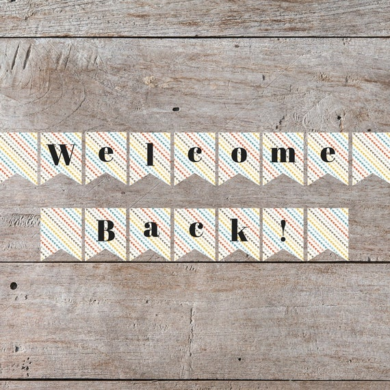 welcome back sign welcome back sign welcome back banner etsy