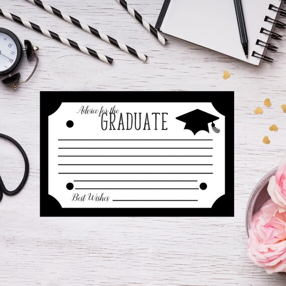 Graduation advice card advice cards graduation greeting etsy image 0 m4hsunfo