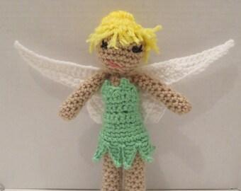 Tinkerbell crochet doll Peter Pan