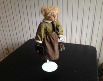 "Ganz Cottage Collectibles retired ""Ms. Webster"" Teacher Bear"