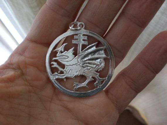 Vlad draculas order of the dragon handmade pendant sterling etsy image 0 aloadofball Gallery