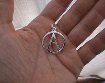 Atheist silver pendant