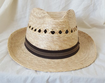 a0e73cd403044 Vintage Mexican Hat    Cholo Hat    Lowrider Hat    Mexican Palm Hat