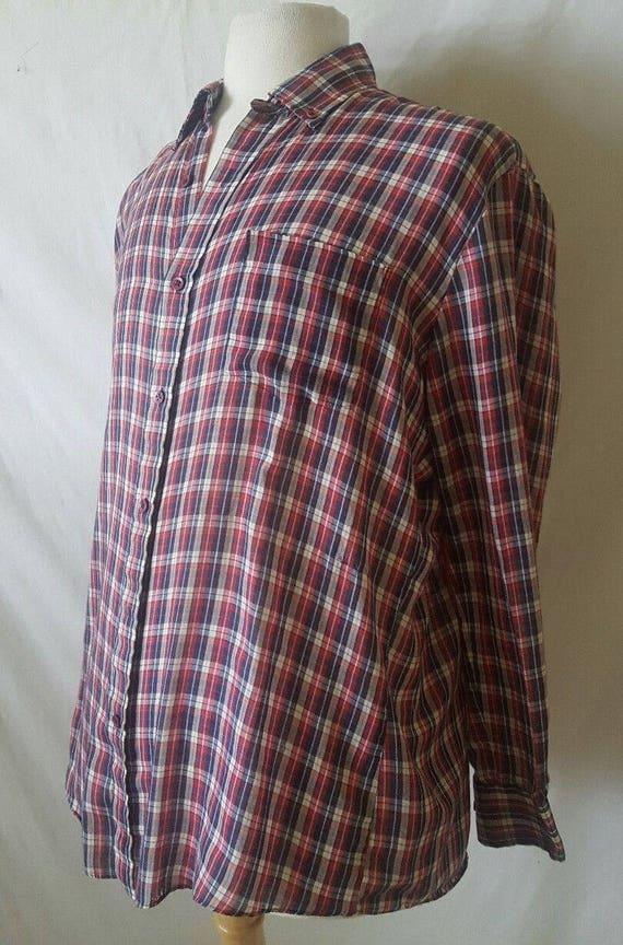 Button Down Plaid Shirt Plaid Button Down Vintage