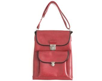 Vintage Bag Red // Student Bag //1980s