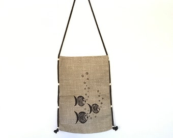 Linen Bags for Clothes natural linen fabric ventazh fabric flax Vintage Style Jute Bags Large Vintage Style Jute Bags decor linen bag