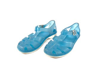 21ac47a6daaf Vintage Toddler Jelly Sandals   Rubber Kids Sandals   Jugoplastika   US  10  UK 9  EU 27  Made in Yugoslavia   1980 s