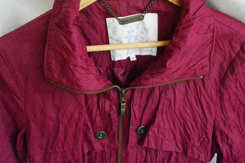 wemen Rocha John Rocha dark pink jacket with zipper S M