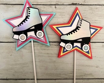 Roller skate party decorations