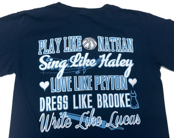 One Tree Hill - Love Like Peyton - T Shirt - Navy ( Comfort Color )