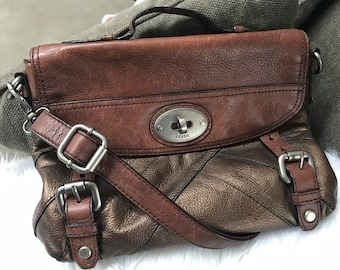 0ba7c741bfeb Fossil long live vintage 1954 leather satchel messenger   crossbody bag