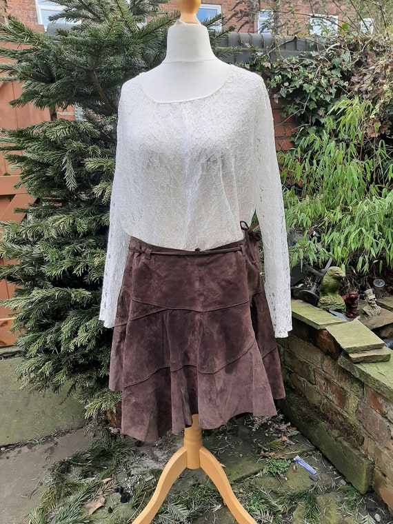 suede mini skirt sixties style or maybe pixie wood