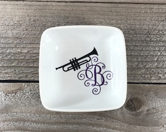 Jewelry Dish, Trumpet Gifts, Trumpet Player, Team Gifts, Recital Gifts, Band Teacher Gift, Birthday Gift, Gift for Her, Recital, Music Note