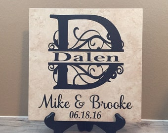 Family Sign, Family Name Sign, Last Name Sign, Established Family Sign, Name Sign, Family Name Decor, Family, Name Plate, 12x12 Tile