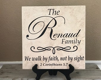 Personalized Wedding Gifts, Wedding Gift Idea, Bridal Shower Gifts, Personalized Sign, Last Name Sign, Ceramic Tile, Name Sign, Bridal Gift