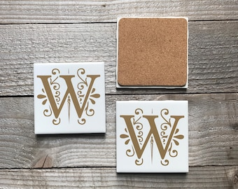 Personalized Coasters, Tile Coasters, Housewarming Gift, Wedding Gifts, Anniversary Gifts, Monogrammed Coasters, Christmas Gifts, Birthday