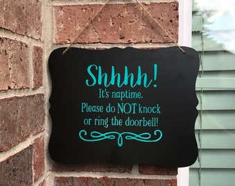 Nap time Sign, Toddler Sleeping, Do not ring doorbell, Gift for Expecting Mom, baby sleeping sign, Baby shower gifts, Privacy sign