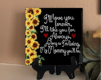 Baby Gift Picture Frames Gift to Son Picture Frame Gift Gift to Mom As long as I/'m living my baby you/'ll be Picture Frame