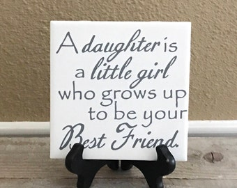 gift for mom on wedding day gift from daughter to mom birthday gift for mom personalized tile long distance mom