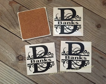 Personalized Coasters, Tile coasters, Wedding, Gifts, Personalized, Bridesmaids gifts, Bridal Shower, Home Decor, Decorations, Gifts