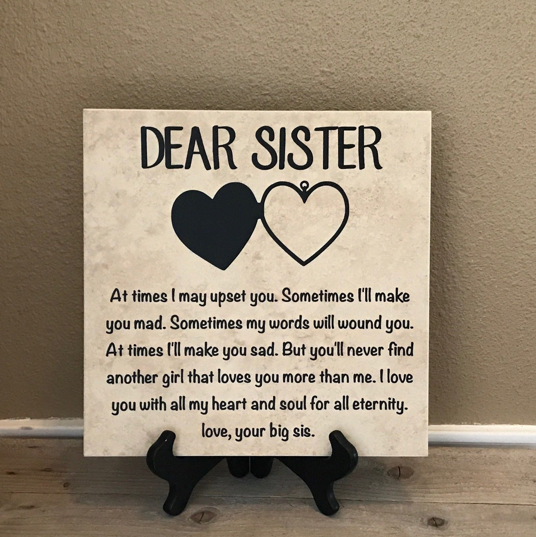 Details about  /Personalised Gifts Sister Sis Her Aunty Framed Card Family Keepsake Birthday