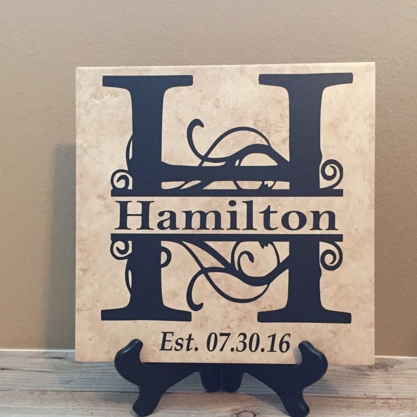 12x12 Personalized Wedding Gift Personalized Wedding Tile Family Tile