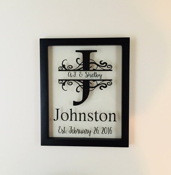 Personalized Picture Frame Established Name Sign Last Name | Etsy