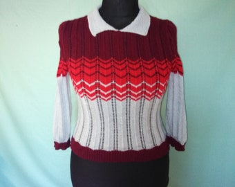 Handmade knitted 1940s style jumper from a Ravelry pattern - Your Victory. 541d331e343b