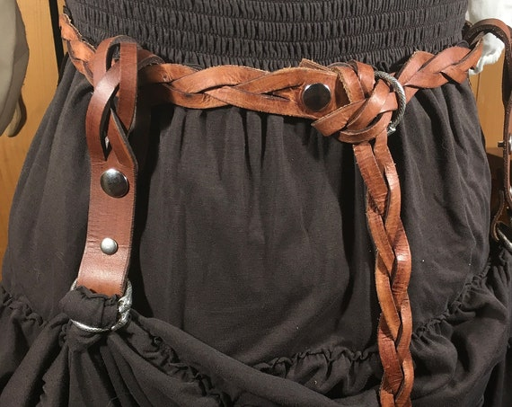 Braided Leather Skirt Hikes