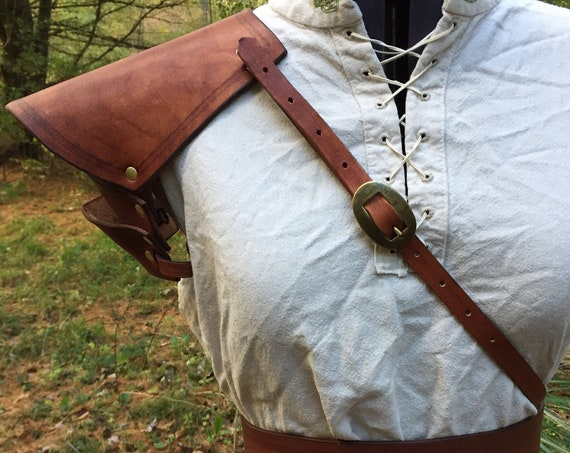 Brown Leather Women's Pauldron