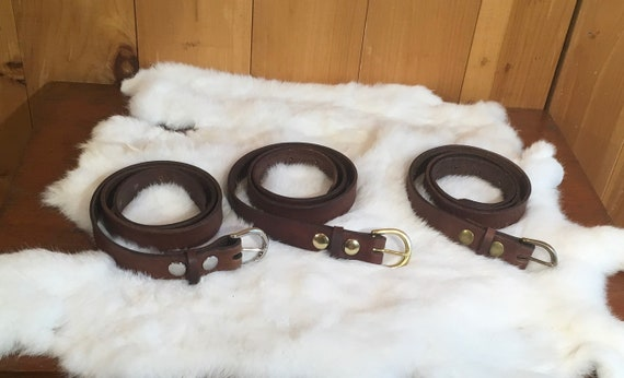 "Leather Women's Belt 1"" Wide"
