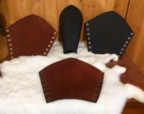 Large Leather Bracers Pair