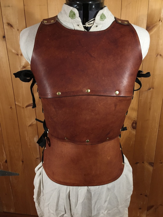 Women's Cuirass Brown Leather Chest Armor