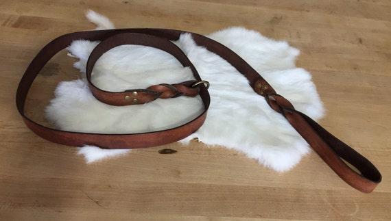 Brown Leather Dog Slip-Lead
