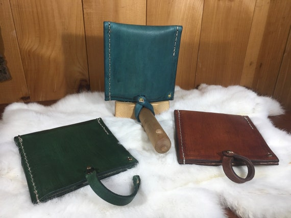 Wool Comb Leather Cover