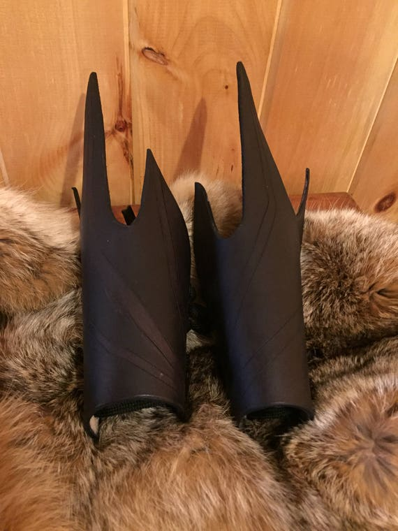 "Women's ""Vampiress"" Leather Bracers Pair"