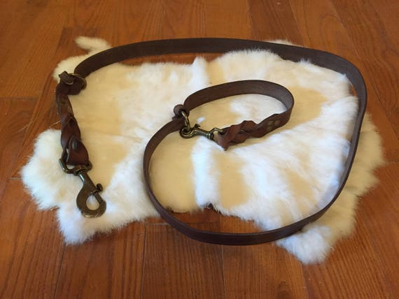 Hands-Free Leather Dog Leash
