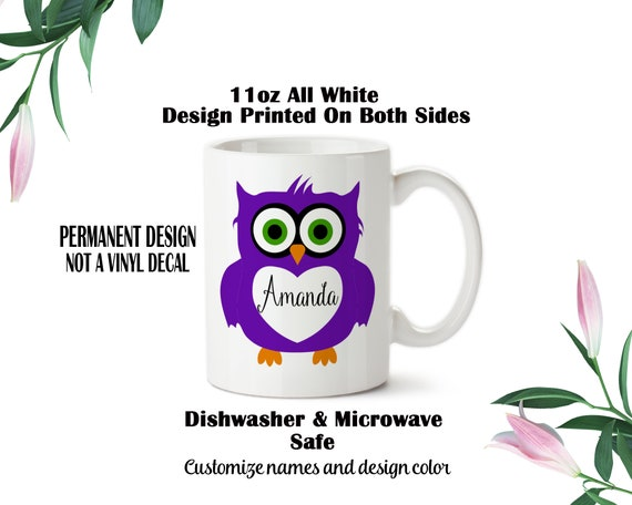Owl Cup Personalized Coffee Mug Personalized Gift Owls Owl Gift Personalized Mug Personalized Owl Mug Personalized Cup Owl Mug Owl