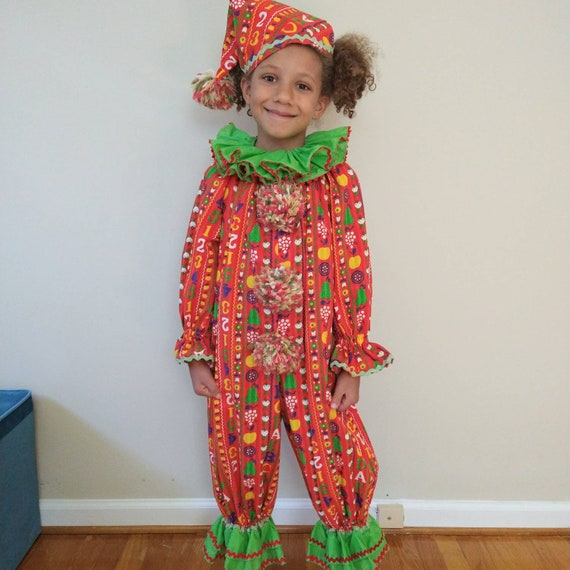 Vintage Kids Clown Costume