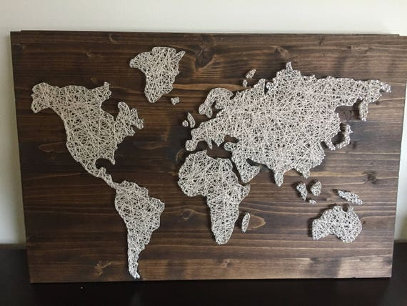 Custom Made to Order World Map String Art | Etsy