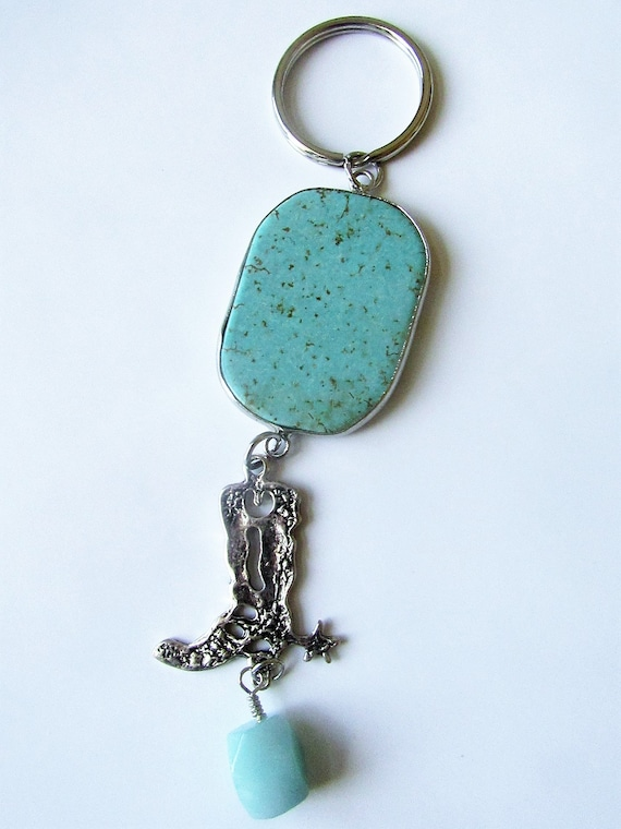 Southwestern style key chain cowboy boot with spurs key  583f2c733