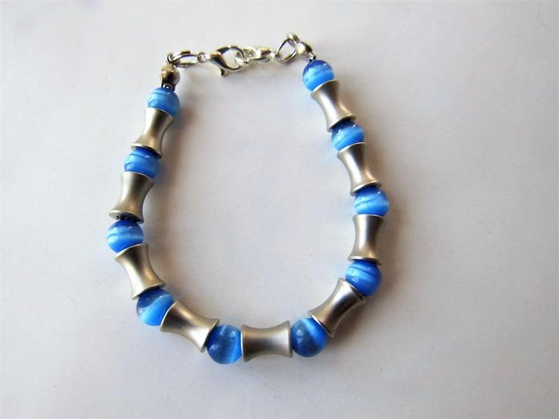 Blue Cat/'s Eye Beaded medical alert ID bracelet Beaded Bracelet Medical ID Alert replacement bracelet bracelet