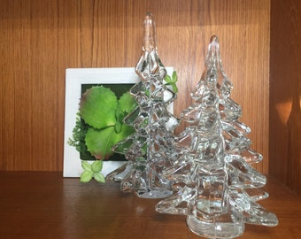 5981fc1023cb0 Vintage Clear Glass Christmas Tree Decor -2 available