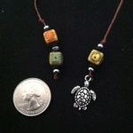 Book Thong Multicolor Ceramic with Turtle Pendant