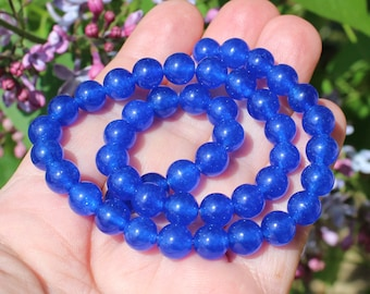 Sapphire blue 8 MM AAA round pearls 4. AAG44