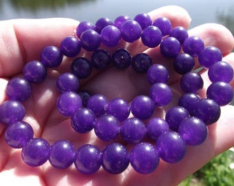 Russian 8MM round Amethyst beads. ****