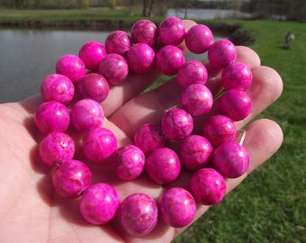 2 LARGE PEARL ROUND 12 MM PINK KUNZITE.